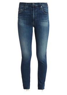 AG Adriano Goldschmied Mari High-Rise Slim-Fit Straight-Leg Raw Hem Jeans