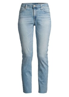 AG Adriano Goldschmied Mari High-Rise Slim Raw Edge Crop Jeans