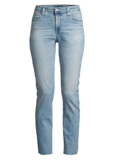 AG Adriano Goldschmied Mari High-Rise Slim Raw Edge Crop Jeans