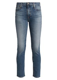 AG Adriano Goldschmied Mari High-Rise Straight-Leg Jeans