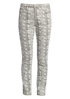 AG Adriano Goldschmied Mari Snakeskin High-Rise Straight Jeans