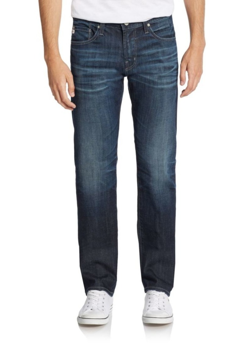 AG Adriano Goldschmied Matchbox Slim Straight-Leg Jeans