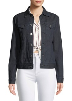 AG Adriano Goldschmied May Button-Front Denim Trucker Jacket
