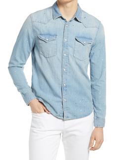 AG Adriano Goldschmied Men's Ag Aiden Western Denim Button-Up Shirt