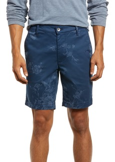 AG Adriano Goldschmied Men's Ag Men's Wanderer Floral Flat Front Shorts