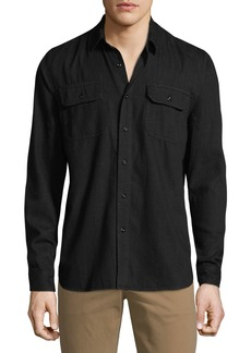 AG Adriano Goldschmied Men's Benning Utility Pocket Shirt
