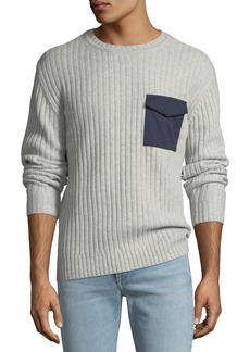 AG Adriano Goldschmied Men's Delta Woven-Pocket Sweater