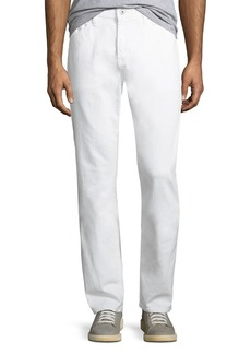 AG Adriano Goldschmied Men's Everett Slim-Straight Jeans in White