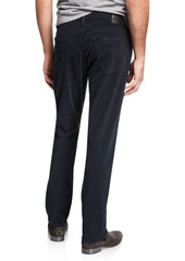 AG Adriano Goldschmied Men's Everett Slim-Straight Twill Pants  Blue