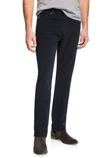 AG Adriano Goldschmied Men's Everett Slim-Straight Twill Pants  Blue