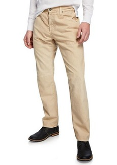 AG Adriano Goldschmied Men's Graduate Straight-Leg Linen Pants