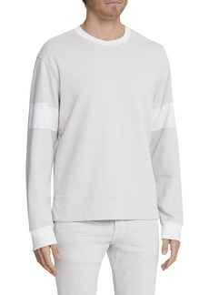 AG Adriano Goldschmied Men's Hydro Colorblock Crewneck Long-Sleeve T-Shirt