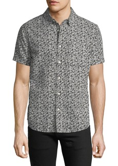 AG Adriano Goldschmied Men's Nash Floral-Print Short-Sleeve Sport Shirt