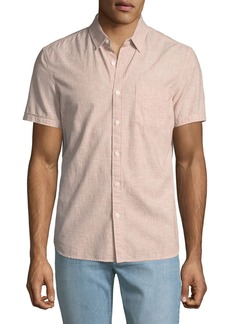 AG Adriano Goldschmied Men's Pearson Short-Sleeve Sport Shirt