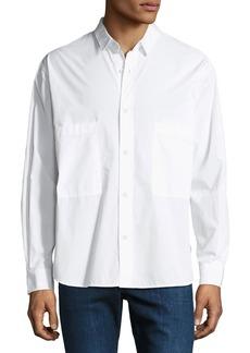 AG Adriano Goldschmied Men's Shiro Oversized-Pocket Shirt