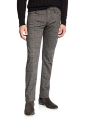AG Adriano Goldschmied Men's Tellis Plaid Twill Pants