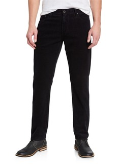 AG Adriano Goldschmied Men's The Graduate Tailored-Leg Corduroy Pants