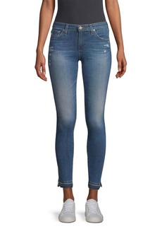 AG Adriano Goldschmied Mid-Rise Ankle Medium Wash Legging Jeans