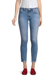 AG Adriano Goldschmied Mid-Rise Cigarettle Ankle Jeans