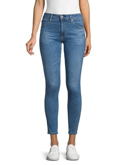 AG Adriano Goldschmied Mid-Rise Skinny Ankle Jeans