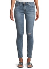 AG Adriano Goldschmied Middi Distressed Skinny Jeans