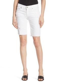 AG Adriano Goldschmied Nikki Distressed Bermuda Shorts