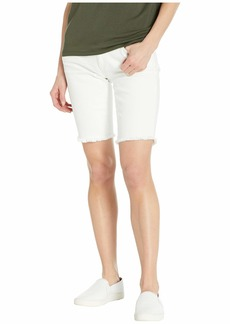 AG Adriano Goldschmied Nikki Shorts in 1 Year Tonal White