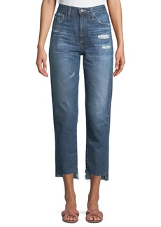 AG Adriano Goldschmied Pheobe Cropped High-Waist Jeans