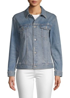 AG Adriano Goldschmied Point Collar Denim Jacket