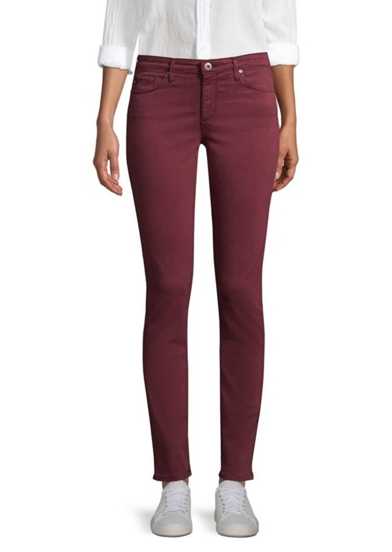 AG Adriano Goldschmied Prima Mid-Rise Sateen Cigarette Jeans