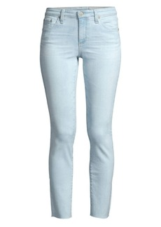 AG Adriano Goldschmied Prima Mid-Rise Ankle-Crop Cigarette Jeans