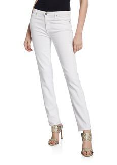 AG Adriano Goldschmied Prima Mid-Rise Cigarette Jeans  White
