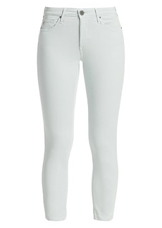 AG Adriano Goldschmied Prima Mid-Rise Crop Cigarette Sateen Pants