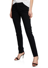 AG Adriano Goldschmied Prima Mid-Rise Skinny Jeans  Super Black