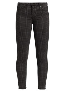 AG Adriano Goldschmied Prima Plaid Mid-Rise Ankle Cigarette Jeans