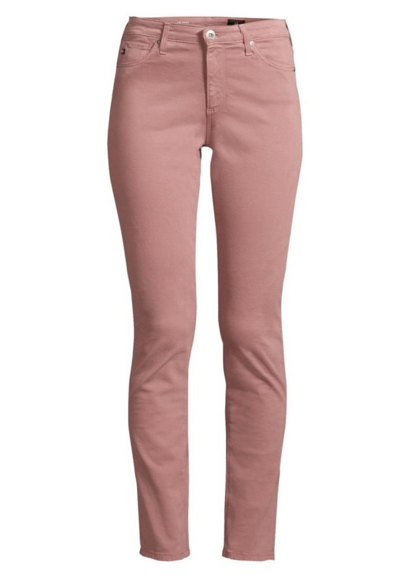 AG Adriano Goldschmied Prima Sateen Mid-Rise Cigarette Pants