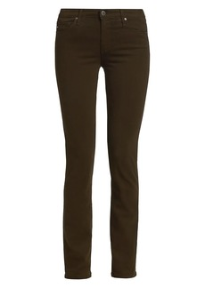 AG Adriano Goldschmied Prima Sateen Mid-Rise Cigarette Jeans