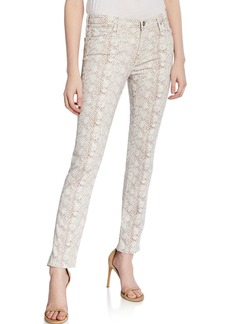 AG Adriano Goldschmied Prima Snake Print Skinny Ankle Jeans