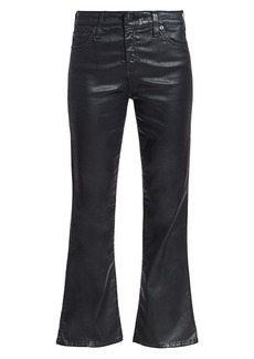 AG Adriano Goldschmied Quinne Cropped Flare Leatherette Jeans