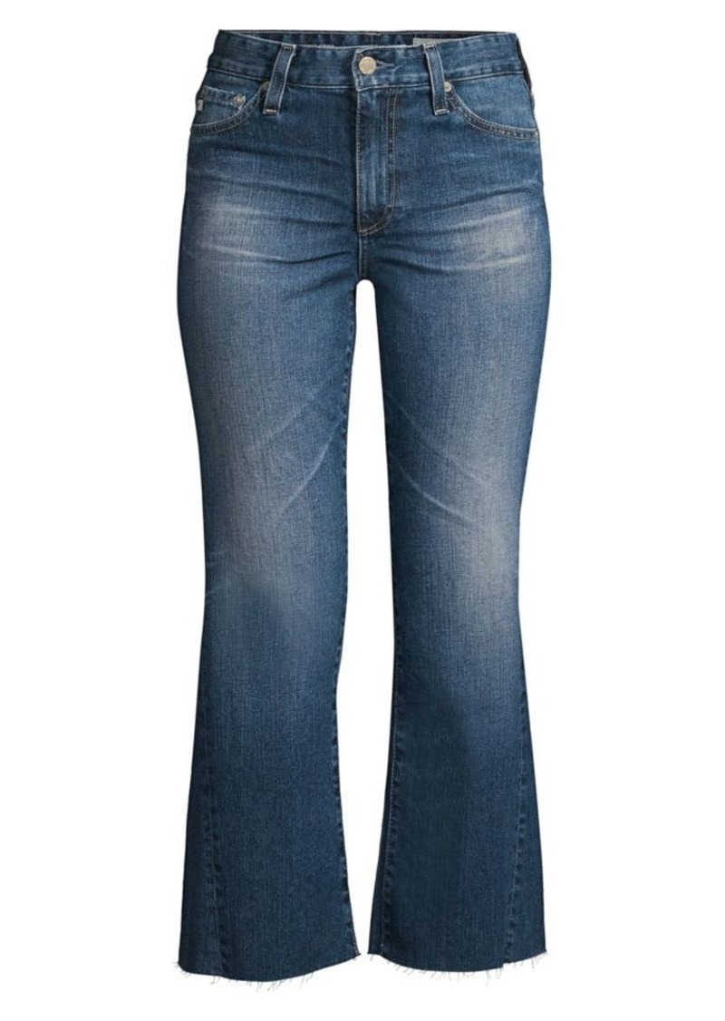 AG Adriano Goldschmied Quinne High-Rise Cropped Flare Jeans