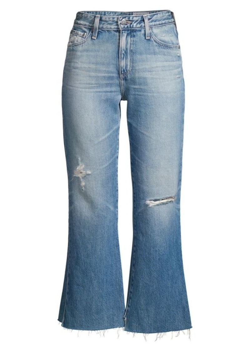 AG Adriano Goldschmied Quinne High Rise Distressed Kick Flare Jeans
