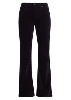 AG Adriano Goldschmied Quinne High-Rise Velvet Flare Pants