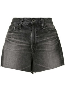 AG Adriano Goldschmied raw-edge high-waisted shorts