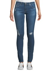 AG Adriano Goldschmied Rev Super-Skinny Distressed Crop Jeans