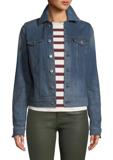 AG Adriano Goldschmied Robyn Button-Front Denim Trucker Jacket