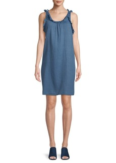 AG Adriano Goldschmied Ruffled Cotton Dress
