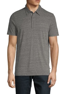 AG Adriano Goldschmied Short-Sleeve Heathered Polo