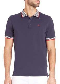 AG Adriano Goldschmied Short Sleeve Pique Polo