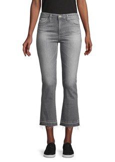 AG Adriano Goldschmied Slim-Fit High-Rise Cropped Flare Jeans