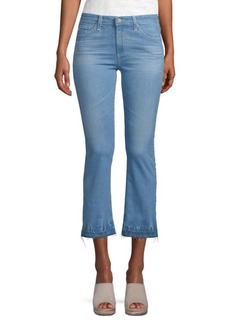 AG Adriano Goldschmied Slim-Fit High-Rise Cropped Jeans